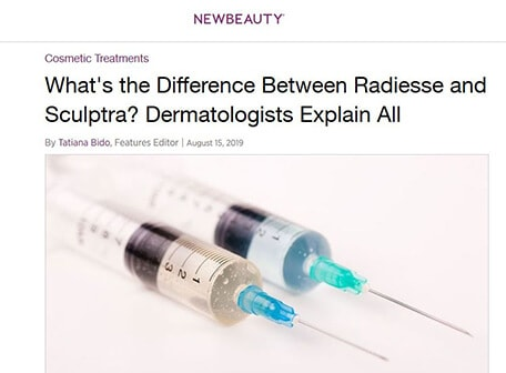 NEW BEAUTY - What's the Difference Between Radiesse and sculptra?