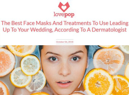 LOVEPOP - the best face masks and treatments to use leading up to your wedding, according to a dermatologist
