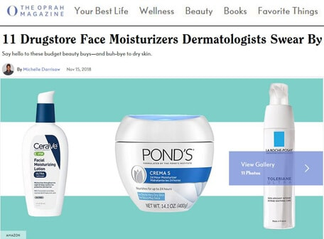 THE OPRAH MAGAZINE - 11 Drugstore face moisturizers dermatologists swear by