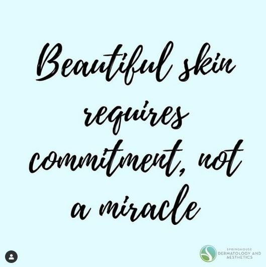 Beautiful skin requires commitment, not a miracle