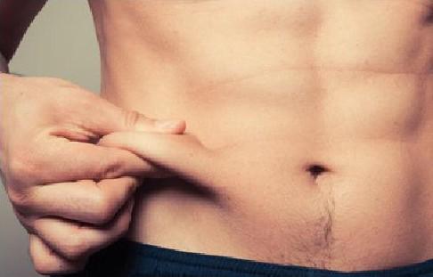 Male body, stommach
