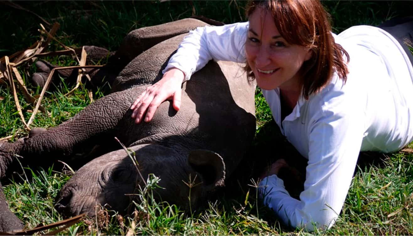 Dr. Margo Weishar, photo with hipopotam