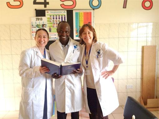 Dr. Margo Weishar, with her team, photo 2