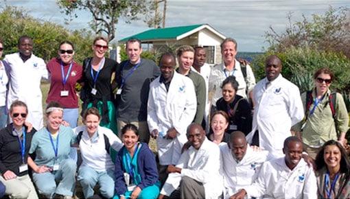 Dr. Margo Weishar, with her team, photo 3